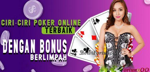 Ciri-Ciri Poker Online Indonesia Terbaik